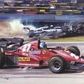 Cma 081 1983 San Marino Gp Imola Patrick Tambay In Ferrari Roy Rob by Eloisa Mannion