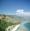 Coast And Beach View Near Dili In East Timor Leste by Jacek Malipan