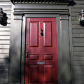 Colonial Red Door Newport Rhode Island by Jason O Watson
