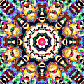 Colorful Concentric Abstract by Phil Perkins
