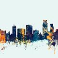 Corpus Christie Texas Skyline by Michael Tompsett