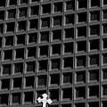 Cross And Building by Jim Corwin