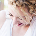 Cute Curly Blond Girl  by Newnow Photography By Vera Cepic