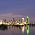 Dallas Skyline Twilight by Jonathan Davison