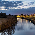 Dawn Over The Town River by Merrillie Redden