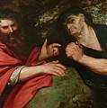 Democritus And Heraclitus by Peter Paul Rubens