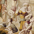 Detail Of Saint Cecilia Distributing Alms by Domenichino