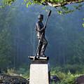 Devil's Den Monument At Gettysburg by John Greim