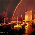 Docklands Double Rainbow by Melinda Sullivan Image and Design