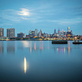early morning sunrise over city of philadelphia PA by Alex Grichenko