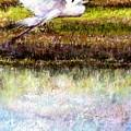 Egret 1 by Peter R Davidson