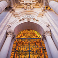 Entrance Of The Syracuse Baroque Cathedral In Sicily - Italy by Paolo Modena