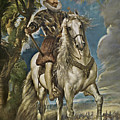 Equestrian Portrait Of The Duke Of Lerma by Peter Paul Rubens