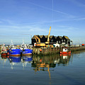 Fishing Boats At Whitstable Harbour 03 by Chris Laurens