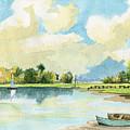 Fishing Lake by Alban Dizdari