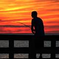 Fishing Pier Mount Sinai New York  by Bob Savage