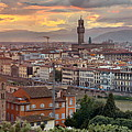Florence Skyline Sunset by Songquan Deng