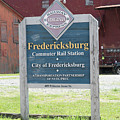 Fredericksburg Rail Station by Arthur English