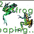 2 Frogs Leaping by Jean Habeck