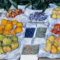 Fruit Displayed On A Stand by Mountain Dreams
