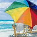 Beach Umbrella By Marilyn Nolan-johnson by Marilyn Nolan-Johnson