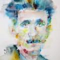 George Orwell - Watercolor Portrait by Fabrizio Cassetta