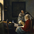 Girl Interrupted At Her Music by Johannes Vermeer