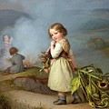 Girl On Her Way To Cooking Potatoes In The Fire by MotionAge Designs