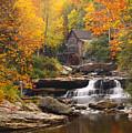 Glade Creek Grist Mill - Fall by Harold Rau