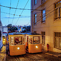 Gloria Funicular, Lisbon, Portugal by Karol Kozlowski