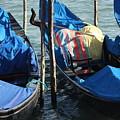 Gondolas In Venice by Michael Henderson