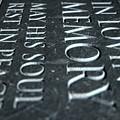Gravestone In Loving Memory by Allan Swart