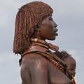 Hamer Tribe Woman, Ethiopia  by Eyal Bartov