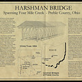 Harshman  Covered Bridge  by Jack R Perry