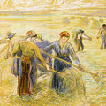 Haymaking by Camille Pissarro