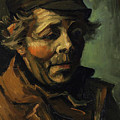 Head Of A Peasant With Cap by Vincent van Gogh