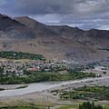 Indus River And Kargil City Leh Ladakh Jammu Kashmir India by Rudra Narayan  Mitra