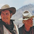 Jack Palance And Lee Marvin Monte Walsh Set Old Tucson Arizona 1969 by David Lee Guss
