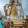 Jacquard Loom For Weaving Textiles by Wellcome Images