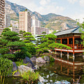 Japanese Garden In Monte Carlo. by Elena Elisseeva
