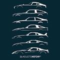 Japanese Sports Car Silhouettehistory by Gabor Vida