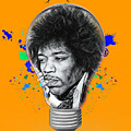 Jimi Hendrix Electric by Marvin Blaine