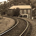 Jonesborough Tennessee - Curved Train Tracks by Frank Romeo