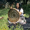 Kashia Pomo Woman Weaving by Inga Spence