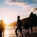 Keepy Uppy On Ipanema Beach, Rio De Janeiro, Brazil by Alexandre Rotenberg