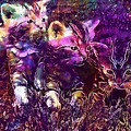 Kittens Cat Cat Puppy Rush  by PixBreak Art