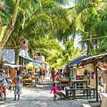 Koh Rong Island Main Village Bars In Cambodia by Jacek Malipan
