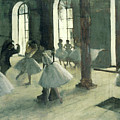 La Repetition Au Foyer De La Danse  by Edgar Degas