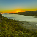 Lake Of The Clouds Sunrise by Jack R Perry