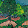Landscape With Chestnut Tree by Ernst Ludwig Kirchner